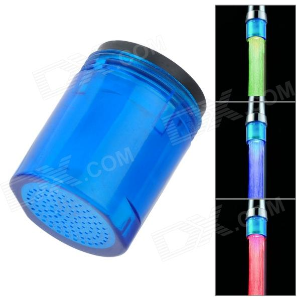 Mini Glow LED Water Faucet Blue Light - Blue