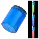 Mini Glow LED Water Temperature Shower Faucet Blue Light - Blue