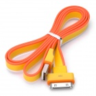USB Male to Apple 30-Pin Male Data / Charging Rainbow Flat Cable - Yellow + Orange + White (90cm)