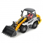 Fashion Aluminum Alloy Forklift Bulldozer Toy - Yellow + Grey