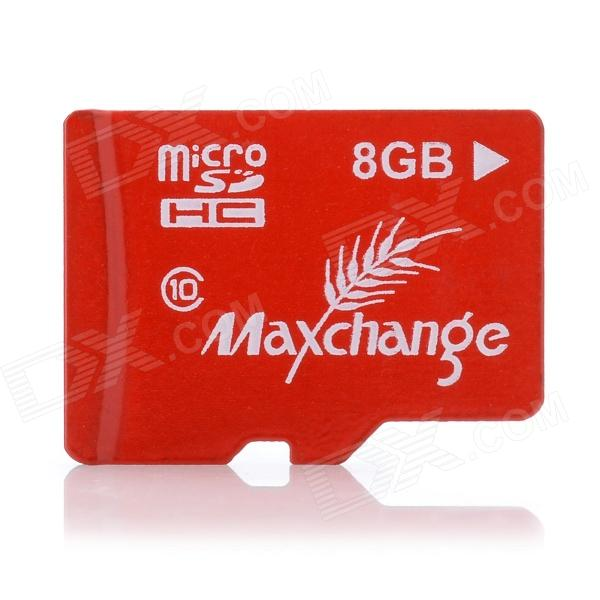 Maxchange Micro SD / TF Memory Card - Red (8GB / Class 10)