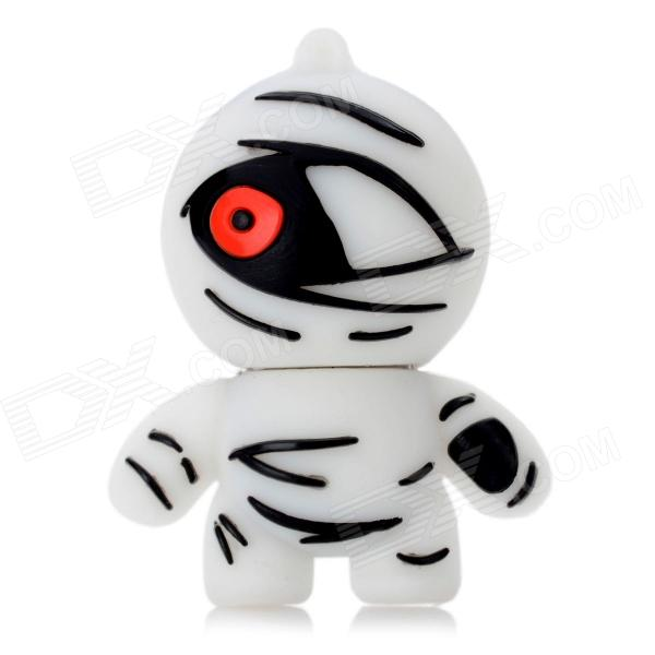 07 Cartoon Mummy Style USB 2.0 Flash Drive - White (8GB)