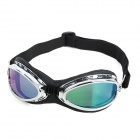 Fashion Reflective PC Lens Safety Motorcycle Riding Goggles - Silver Frame