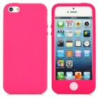 Stylish Protective Full Protection Silicone Case for iPhone 5 - Deep Pink