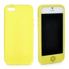 Protective Silicone Case Cover for iPhone 5 - Fluorescence Yellow