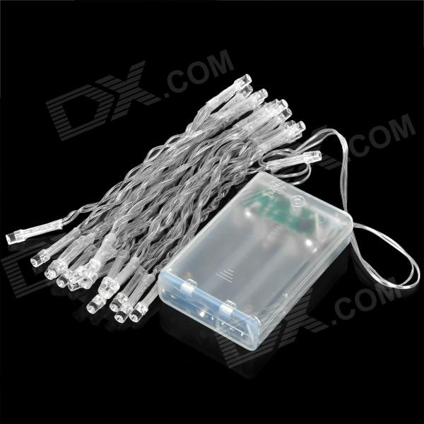 3W 30-LED Warm White Decoration String Light for Wedding / Christmas / Fairy Party - Transparent ip65 waterproof 3w 45lm 450nm 30 led ice blue string light white transparent dc 12 24v