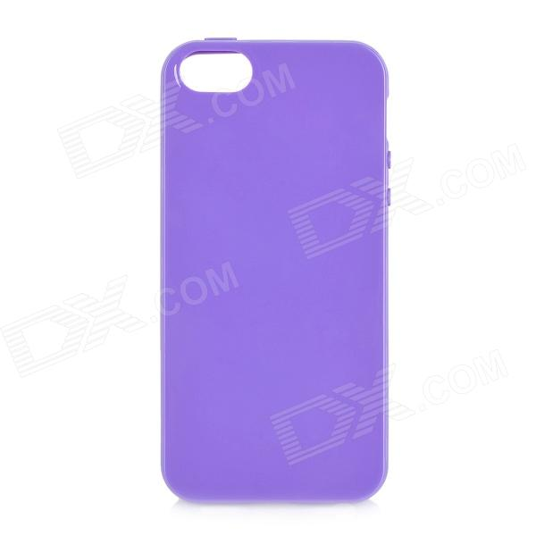 Protective Soft Silicone Back Case for Iphone 5 - Purple stylish bubble pattern protective silicone abs back case front frame case for iphone 4 4s