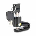Bicycle Motorcycle Disc Brake Lock Set - Black