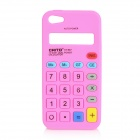 Protective Calculator Style Silicone Case Cover for Iphone 5 - Pink
