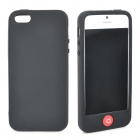 Stylish Protective Full Protection Silicone Case for iPhone 5 - Black