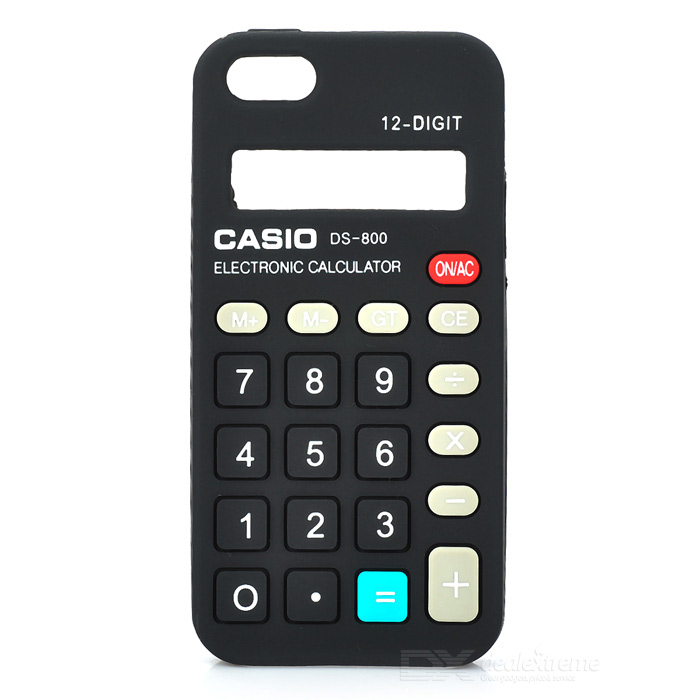 все цены на  Protective Calculator Style Silicone Case Cover for Iphone 5 - Black  онлайн