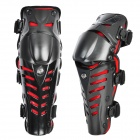 AMT-YW016 Motorcycle Sports Outdoor Riding Knee Pad Set - Black + Red (Pair) 