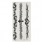 Fashion Abstract Cross Pattern Tattoo Paper Stickers - Black (10 PCS)