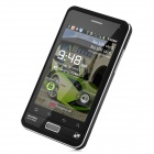 "CY003 Android 2.3 GSM Bar Phone w/ 3.5"" Capacitive Screen, Quad-Band, Wi-Fi and Dual-SIM - Black"