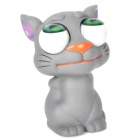 Cartoon Cat Style Eyes Pop Out Stress Reliever Relief Squeeze Toy - Grey