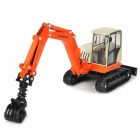 Fashion Alloy Wood Grapple Skidder Truck Toy - Orange + White + Black