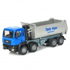 Fashion Alloy Dumpers Bulldozer Toy - Blue + Grey