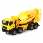 Fashion Aluminum Alloy Mixer Truck Bulldozer Toy - Yellow + Black