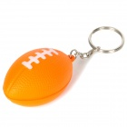 Creative American Football Shaped Sponge + Stainless Steel Keychain - Orange