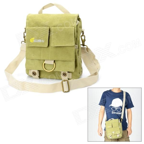 EIRMAI EMB-SS05 Classic Canvas Fabric Shoulder Bag for DSLR - Green (Size S)