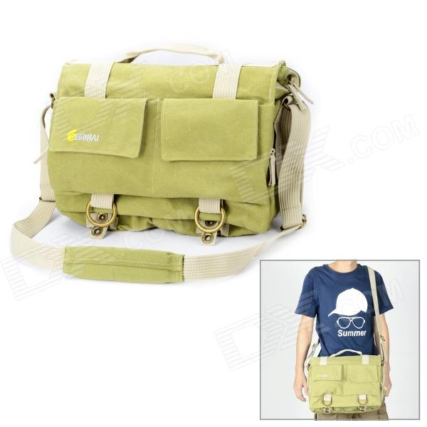 Фото - EIRMAI EMB-SS05L Classic Canvas Fabric Shoulder Bag for DSLR - Green (Size L) tanqu inner lining zipper pocket for classic size obag o 50 super advanced insert with inner waterproof coating for o 50 bag