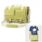 EIRMAI EMB-SS05L Classic Canvas Fabric Shoulder Bag for DSLR - Green (Size L)