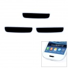 Protective Aluminum Button Decorative Stickers for Samsung i9300 - Black (3 PCS)
