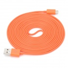 Micro USB Male to USB Male Charging Data Cable for Samsung / HTC / BlackBerry - Orange (300cm)