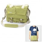 EIRMAI EMB-SS05 Classic Canvas Fabric Shoulder Bag for DSLR - Green (Size M)