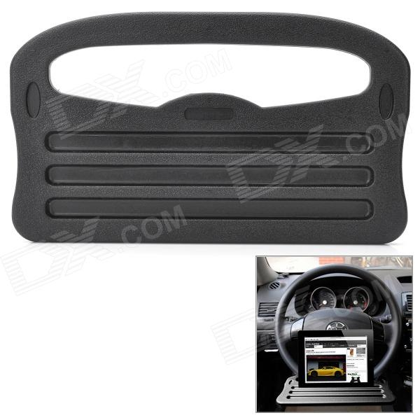 Multi-Function Steering Wheel Tray Holder Stand for Ipad - Black