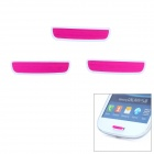 Protective Aluminum Button Decorative Stickers for Samsung i9300 - Deep Pink (3 PCS)