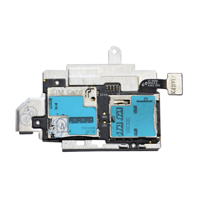 Replacement Micro SD SIM Card Connector Socket Slot Flex Cable for Samsung i9300 Galaxy S3 replacement sd card slot holder flex cable ribbon for nintendo dsi golden silver