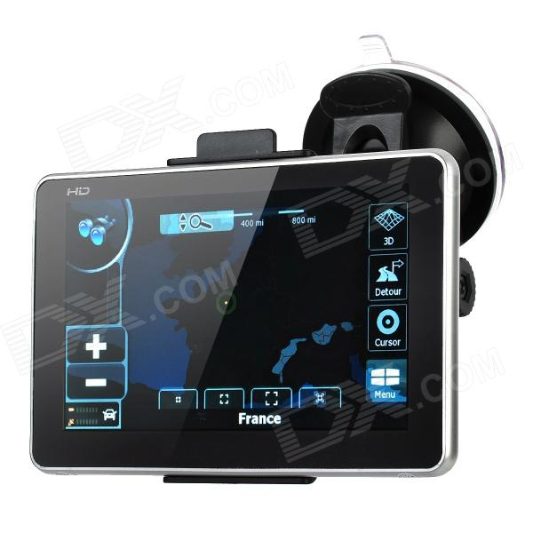 ST-5505 5 Touch Screen LCD WinCE 6.0 GPS Navigator w/ FM + Internal 4GB Europe Map - Black ultra thin 7 touch screen lcd wince 6 0 gps navigator w fm internal 4gb america map light blue
