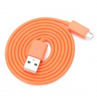 V8 Micro USB Male to USB Male Charging Cable for Samsung / HTC / Motorola - Orange (100cm)