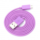 V8 Micro USB Male to USB Male Charging Cable for Samsung / HTC / Motorola - Purple (90cm)
