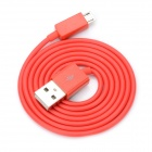 V8 Micro USB Male to USB Male Charging Cable for Samsung / HTC / Motorola - Red (90cm)