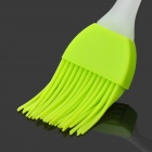 Plastic Handle Silicone Baking Brush - White + Green