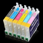 Replacement Inkjet Cartridge for EPSON STYLUS PHOTO RX500/RX600/R300/R300M/R200/R220/R320 (6-Color)