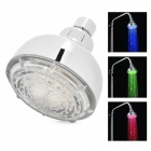 "4"" Romantic LED 7 Colors Changing Round Hand Shower Head - Silver (100mm)"