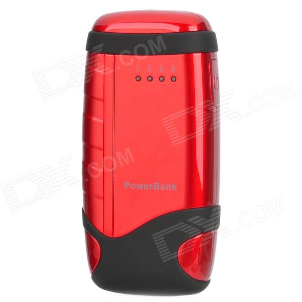 Power Bank 5000mAh Mobil External Power Battery Charger - Black + Red
