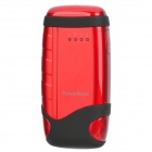 Power Bank 5000mAh Mobile External Power Battery Charger - Black + Red