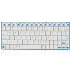 Mini USB Rechargeable Handheld Bluetooth 80-Key Wireless Keyboard - White