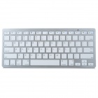 Mini Handheld Bluetooth 78-Key Wireless Keyboard - White (2 x AAA)