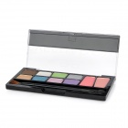 Cosmetic Makeup 8-Color Eye Shadow 2-Color Blush Kit - Multicolored