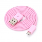 V8 Micro USB Male to USB Male Charging Cable for Samsung / HTC / Motorola - Pink (80cm)