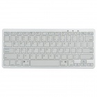 Mini Handheld Rechargeable Bluetooth 78-Key Wireless Keyboard - White