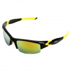CARSHIRO 9110 Outdoor Riding UV400 PC Lens Eye Protection Sunglasses - Black + Yellow