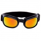 Genuine CARSHIRO Sports UV Protection Red REVO Resin Lens Sunglasses - Black