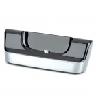 Desktop Charger Dock Station w/ USB Cable for Samsung Galaxy S3 i9300 - Black + Silver