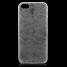 Protective Grid Pattern Super-thin Case Cover for Iphone 5 - Transparent